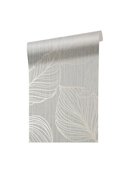 Papel pintado Luxus Fine Blatter, Tejido no tejido, Plateado, gris, An 52 x Al 1005 cm