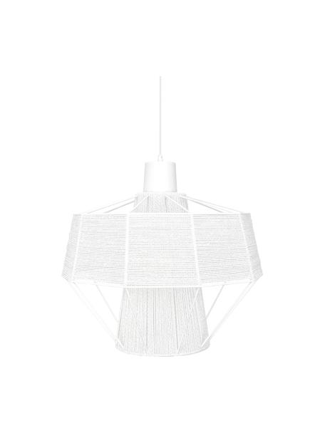Lámpara de techo de diseño Layer, Pantalla: algodón, Cable: cubierto en tela, Blanco, Ø 42 x Al 38 cm