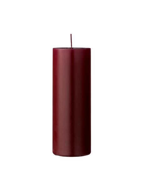 Vela pilar Lulu, Cera, Rojo vino, Ø 7 x Al 20 cm
