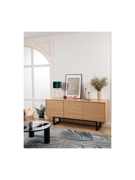 Sideboard Camden mit Türen und Eichenholzfurnier, Korpus: Mitteldichte Holzfaserpla, Eichenholz, 175 x 75 cm