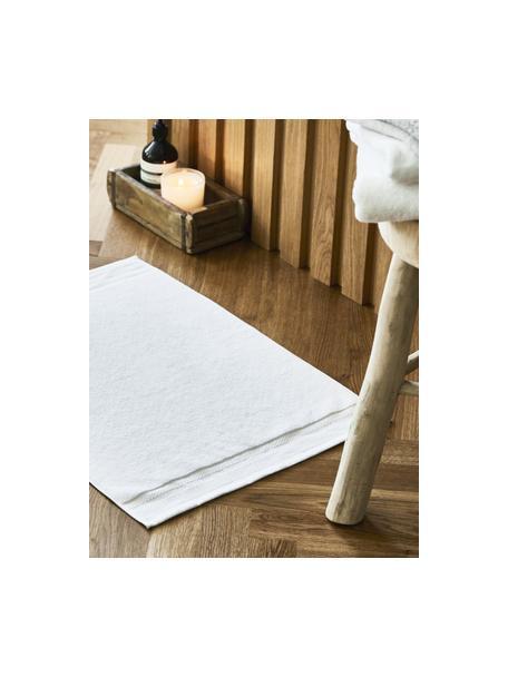 Badmat Premium, antislip, 100% katoen, zware kwaliteit, 600 g/m², Wit, 50 x 70 cm