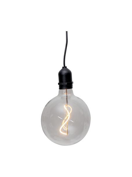 Lámpara Bowl, portátil con temporizador, Pantalla: vidrio, Cable: plástico, Transparente, negro, An 13 x Al 18 cm
