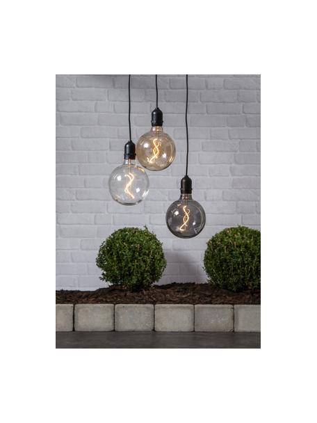 Mobiel hanglamp Bowl met tijdschakelaar, Lampenkap: glas, Fitting: kunststof, Transparant, zwart, 13 x 18 cm