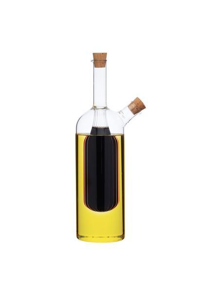 Azijn- en oliedispenser Ital, Glas, Transparant, Ø 6 x H 24 cm
