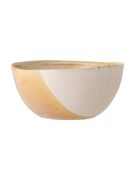 Bol artesanal April, Gres Una mitad vidriada, la otra mitad natural, lo que enfatiza el carácter de la artesanía., Tonos beige, Ø 26 x Al 12 cm
