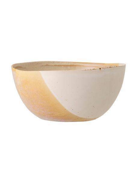 Centrotavola fatto a mano con belle sfumatura April, Ø 26 cm, Gres Una metà smaltata, una metà naturale, il che sottolinea il carattere dell'artigianato, Tonalità beige, Ø 26 x Alt. 12 cm