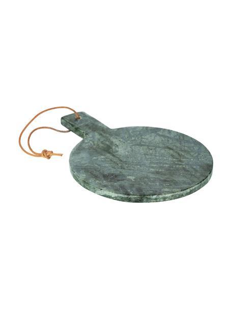 Deska do krojenia z marmuru z paskiem do zawieszenia Tresa, Zielony, marmurowy, D 30 x S 22 cm