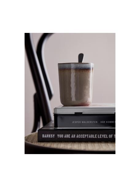 Set 4 tazze senza manico fatte a mano Nomimono, Gres, Grigio, greige, Ø 8 x Alt. 10 cm