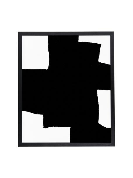 Stampa digitale incorniciata From Above, Immagine: stampa digitale su carta,, Cornice: legno di faggio verniciat, Nero, bianco, Larg. 53 x Alt. 63 cm