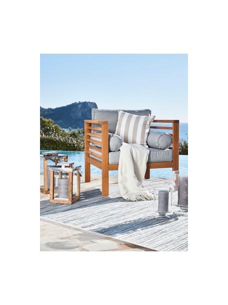 Federa arredo a righe color beige/bianco Timon, 100% cotone, Taupe, bianco, Larg. 40 x Lung. 40 cm