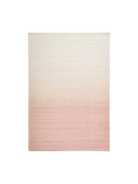 Handgewebter Viskoseteppich Alana mit Farbverlauf, 100% Viskose, Rosa, Beige, B 160 x L 230 cm (Grösse M)