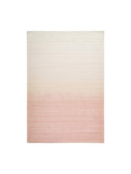 Handgeweven viscose vloerkleed Alana met kleurverloop, 100% viscose, Roze, beige, B 160 x L 230 cm (maat M)