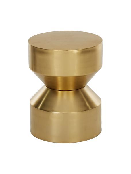 Mesa auxiliar Juliana, Metal recubierto, Dorado ligeramente brillante, Ø 36 x Al 45 cm
