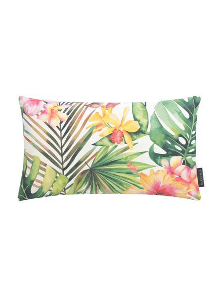 Federa arredo da esterno con stampa tropicale Kokamo, 100% Dralon® poliacrilico, Multicolore, Larg. 30 x Lung. 50 cm