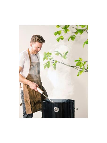 Cubiertos plegables de barbacoa 4 en 1 Jan, Acero inoxidable, madera de fresno, cuero, Plateado, An 5 x Al 50 cm