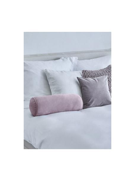 Poduszka wałek z aksamitu z wypełnieniem Monet, Tapicerka: 100% aksamit poliestrowy, Brudny różowy, Ø 18 x D 50 cm