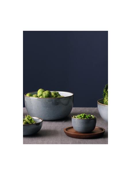 Dipschalen Saisons aus Steingut in Blau Ø 9 cm, 6 Stück, Steingut, Blau, Ø 9 x H 6 cm