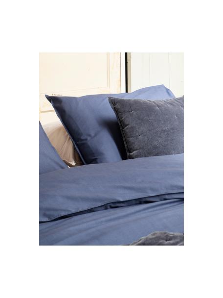 Renforcé dekbedovertrek Soft Structure met zeer fijn patroon, Weeftechniek: renforcé, Donkerblauw, 240 x 220 cm