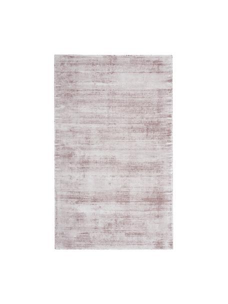 Tappeto in viscosa color lilla tessuto a mano Jane, Vello: 100% viscosa, Retro: 100% cotone, Lilla, Larg. 90 x Lung. 150 cm (taglia XS)