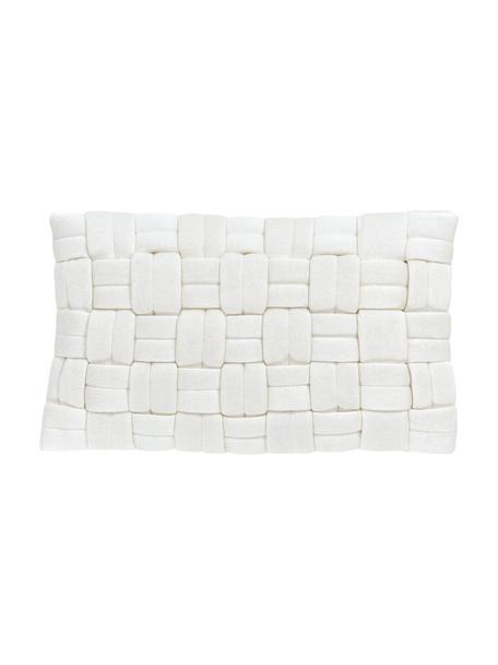 Kissenhülle Norman in Cremeweiß, Weiß, 30 x 50 cm