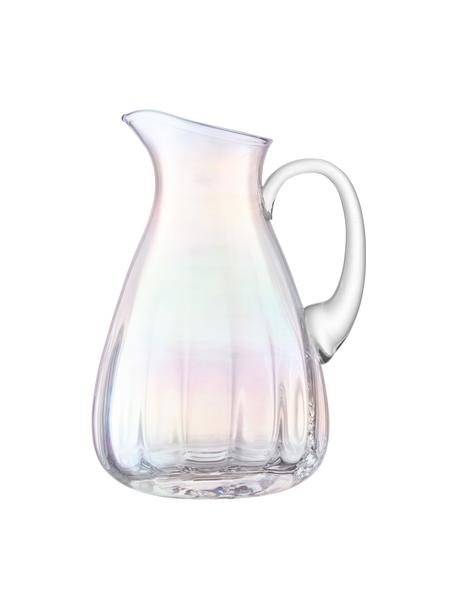 Mundgeblasener Krug Pearl mit schimmerndem Perlmuttglanz, 2.2 L, Glas, Perlmutt-Schimmer, H 25 cm