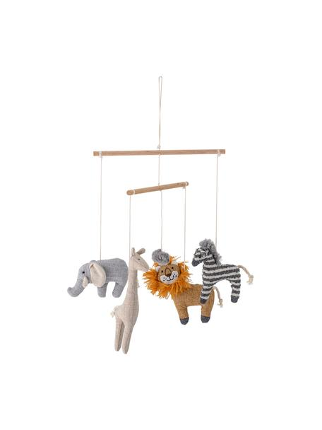 Móvil bebé Animals, Estructura: abedul, Multicolor, Ø 26 x Al 31 cm