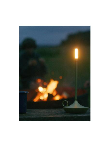 Lámpara de mesa pequeña regulable táctil LED Wick, portátil, Pantalla: plástico, Latón, Ø 12 x Al 26 cm