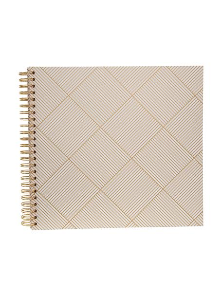 Album na zdjęcia Picture, Odcienie złotego, biały, S 25 x W 22 cm