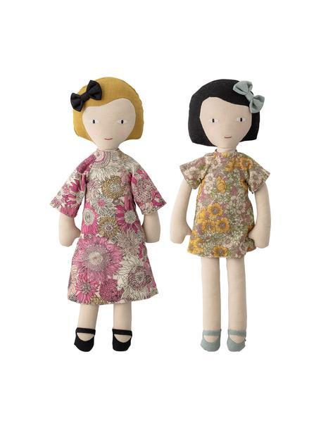 Komplet szmacianych lalek Girls, 2 elem., Tapicerka: 65 % poliester, 35 % bawe, Wielobarwny, S 10 x W 36 cm