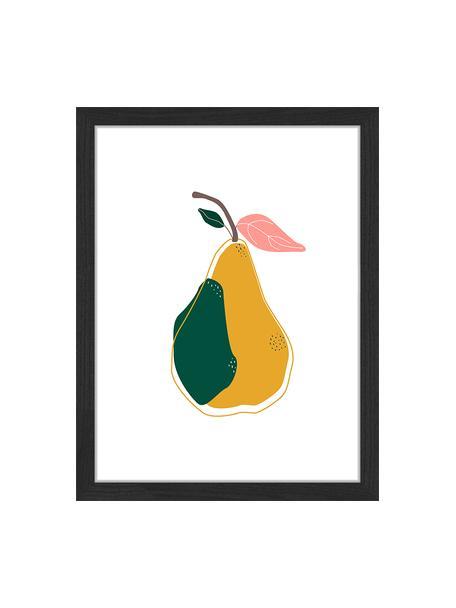 Stampa digitale incorniciata A Pear, Immagine: stampa digitale su carta,, Cornice: legno verniciato, Multicolore, Larg. 33 x Alt. 43 cm