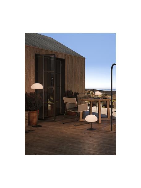 Mobiele dimbare outdoor vloerlamp Sponge, Lampvoet: kunststof, Lampenkap: kunststof, Wit, zwart, Ø 34 x H 126 cm