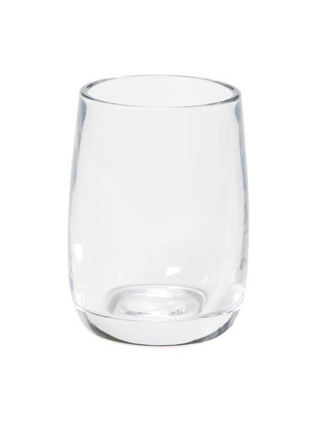 Zahnputzbecher Agada, Glas, Transparent, Ø 8 x H 11 cm