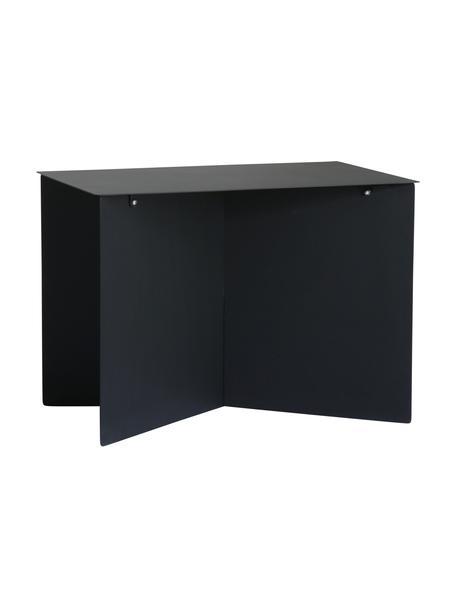 Tavolino da salotto in metallo Dinga, Metallo verniciato a polvere, Nero, Larg. 55 x Alt. 40 cm