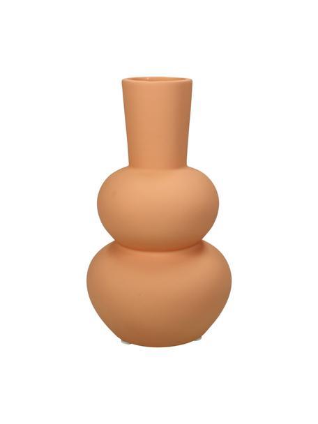 Vase Felicia aus Steingut, Steingut, Orange, Ø 11 x H 20 cm