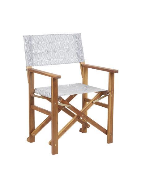 Sedia pieghevole da regista Zoe, Struttura: legno di acacia massiccio, Grigio, Larg. 59 x Alt. 87 cm
