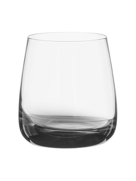 Vasos de agua soplados Smoke, 2uds., Vidrio (cal sodada) soplado artesanalmente, Gris, transparente, Ø 9 x Al 10 cm