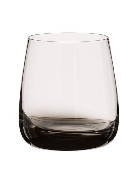 Szklanka do wody ze szkła dmuchanego Smoke, 2 szt., Szkło dmuchane (sodowo-wapniowe), Szary, transparentny, Ø 9 x W 10 cm