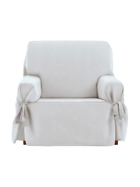 Copertura poltrona Levante, 65% cotone, 35% poliestere, Color crema, Larg. 110 x Alt. 110 cm