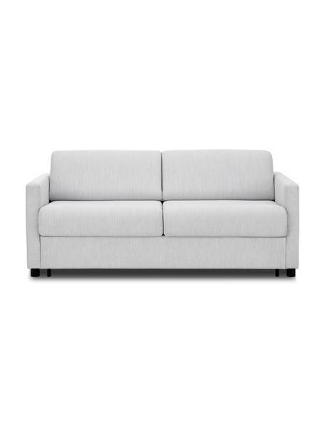 Sofa rozkładana z materacem Morgan (2-osobowa), Tapicerka: 100% poliester Dzięki tka, Nogi: lite drewno sosnowe, laki, Szary, S 187 x G 92 cm