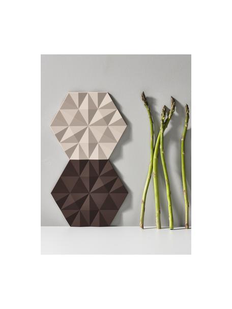 Salvamanteles Ori, 2uds., Silicona, Beige, L 16 x An 14 cm