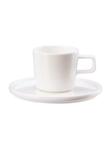 Set 12 tazze Fine Bone China Oco, Fine Bone China (porcellana) Fine Bone China è una porcellana delicata che si distingue particolarmente per la sua lucentezza radiosa., Avorio, Ø 6 x Alt. 7 cm