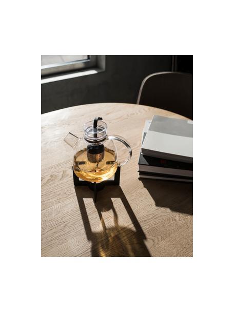 Scalda teiera di design Warm-Up, Metallo verniciato a polvere, gomma, Nero, Ø 8 x Alt. 15 cm