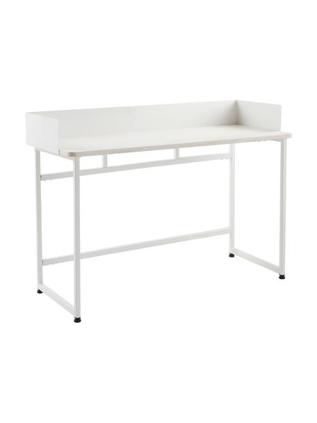 Wąskie biurko Liberty, Blat: płyta pilśniowa średniej , Stelaż: metal powlekany, Biały, S 110 x G 45 cm
