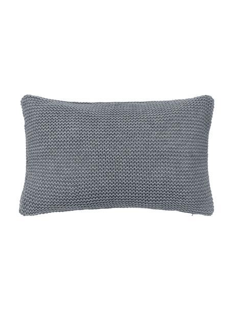 Dzianinowa poszewka na poduszkę z bawełny organicznej  Adalyn, 100% bawełna organiczna, certyfikat GOTS, Szary, S 30 x D 50 cm
