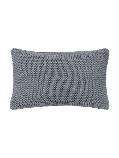 Strick-Kissenhülle Adalyn aus Bio-Baumwolle in Hellgrau, 100% Bio-Baumwolle, GOTS-zertifiziert, Hellgrau, 30 x 50 cm