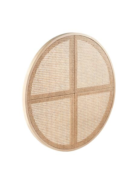Cabecero de ratán Stockholm, Madera, ratán, Beige, Ø 135 cm