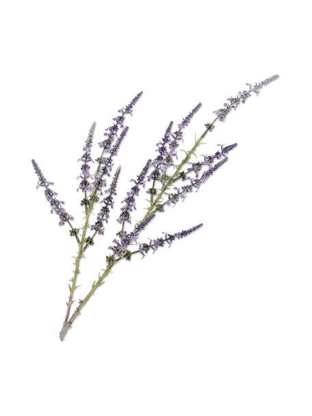 Fiore lavanda artificiale, viola, Materiale sintetico, filo metallico, Viola, Lung. 83 cm