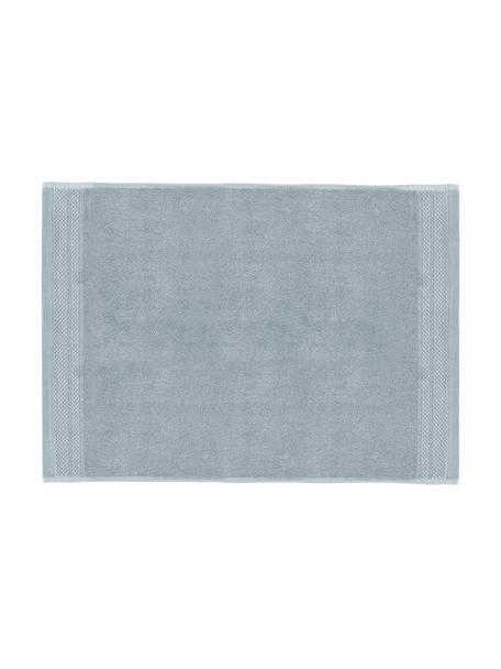 Badematte Premium, rutschfest, 100% Baumwolle, schwere Qualität 600 g/m², Hellblau, 50 x 70 cm