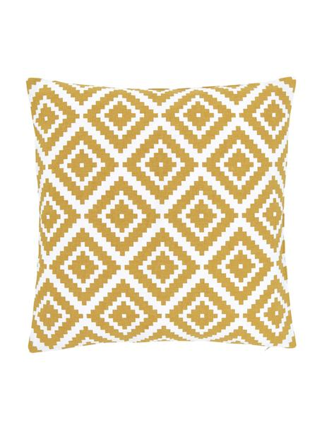 Poszewka na poduszkę Miami, 100% bawełna, Żółty, S 45 x D 45 cm