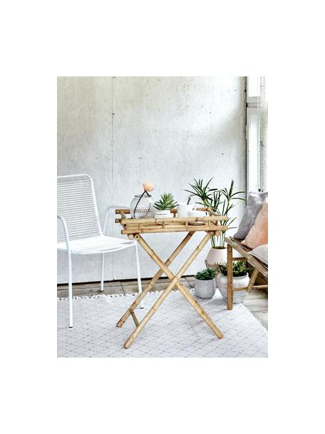 Mesa auxiliar de jardín plegable de bambú Mandisa, Bambú natural, Bambú, An 60 x Al 68 cm